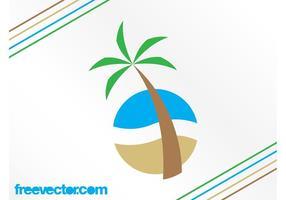 Logo della spiaggia tropicale