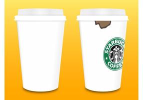 vettore delle tazze di caffè di Starbucks