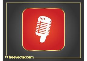 Icona grafica del microfono vettore