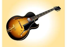 vettore les paul guitar