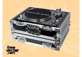 Vettore dell'attrezzatura del DJ