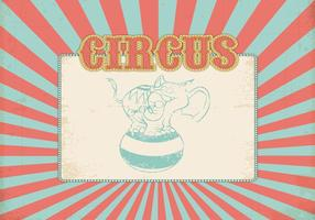 Retro vettore del fondo del circo