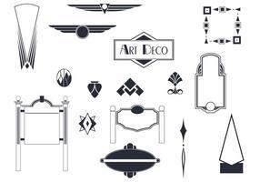 Vettori di segni e ornamenti Art Deco