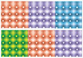Senza soluzione di continuità Bright Diamond Vector Patterns