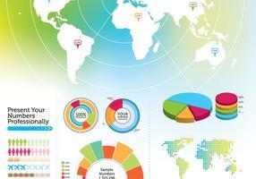 Pacchetto di vettore di infografica
