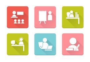 Pacchetto di vettore di icone I gente di affari
