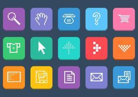 Insieme di vettore di varie icone di Pixel Web
