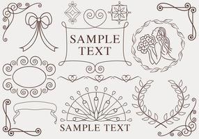 Pacchetto di vettore di ornamenti disegnati a mano