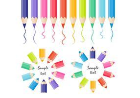Raccolta di vettore di matite colorate