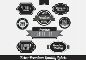 Vettori di etichette premium retrò nero