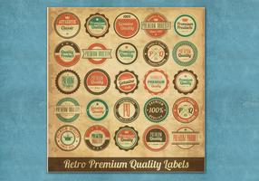 Vettori di etichette premium d'epoca