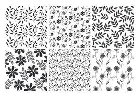 Insieme floreale di vettore degli ambiti di provenienza delle foglie