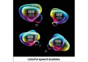 Pacchetto di bolle di discorso iridescente vettore
