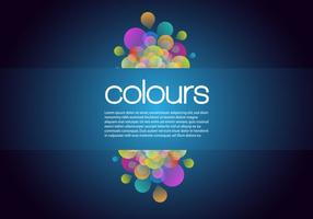Glowing Bubble Background Vector