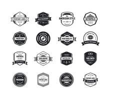 pacchetto di vettore logo vintage due