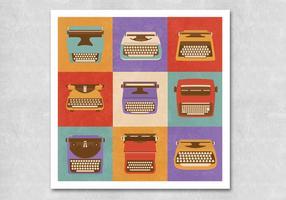 Vettori di macchina da scrivere retrò