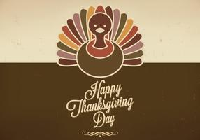 Grungy Thanksgiving Background Vector