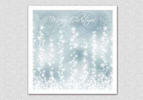 Glowing Snowflake Christmas Vector Background