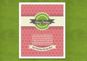 Retro vettore rosso della cartolina di Natale