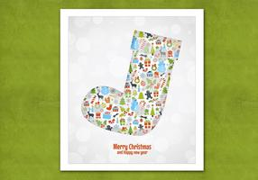 Bokeh Christmas Stocking Vector Background