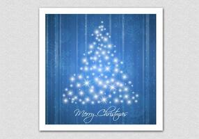 Fondo scintillante blu di vettore dell'albero di Natale