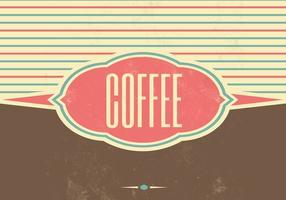 Sfondo vettoriale retrò caffè