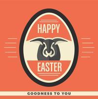 Fondo felice di vettore dell'uovo di Pasqua
