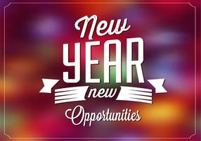 Bright New Year Vector Background