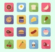 16 icone cibo Vector Pack