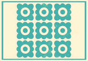 Teal Floral Vector Pattern