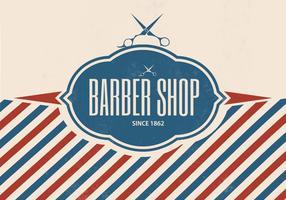 Retro fondo di vettore del negozio di barbiere