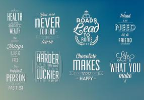 Typographic Elements Vector Pack