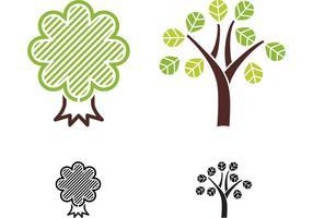 Vettori albero astratti gratis