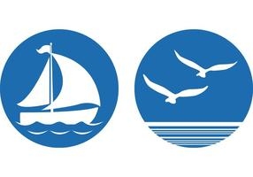 Vettori di simboli nautici