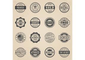 Set vettoriale di francobollo commerciale gratuito