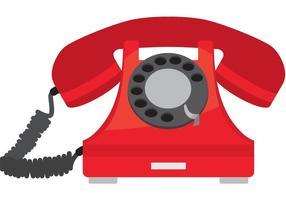 Vecchio telefono vettoriale