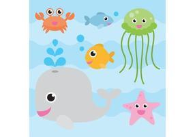 Vettori di animali marini