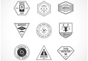 Distintivi di vettore di hipster gratis