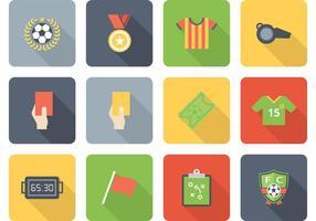 Set di icone vettoriali gratis calcio