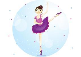 Ragazza di vettore di danza del balletto