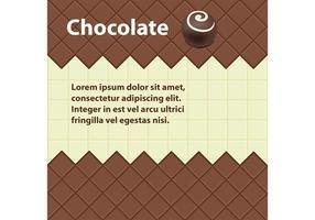 Sfondo vettoriale di cioccolato