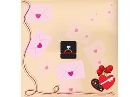 San Valentino vettoriale lettere sfondo