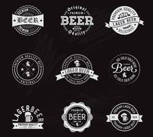 Distintivi di birra gesso vettoriali gratis