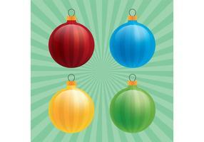 Vettori di ornamento di Natale lucido
