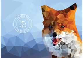 Carta da parati geometrica libera di vettore del poligono della volpe