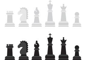 Pezzi del gioco vettoriale di scacchi
