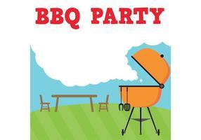 festa vettoriale barbecue