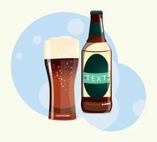Vettore di bottiglia di birra