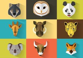 Ritratti di animali selvatici vettore