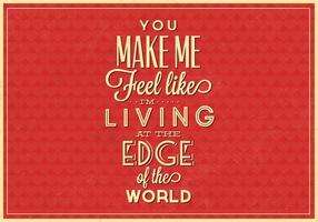 Poster tipografico di Living on the Edge Vector